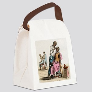 Chinese acupuncture, artwork Canvas Lunch Bag