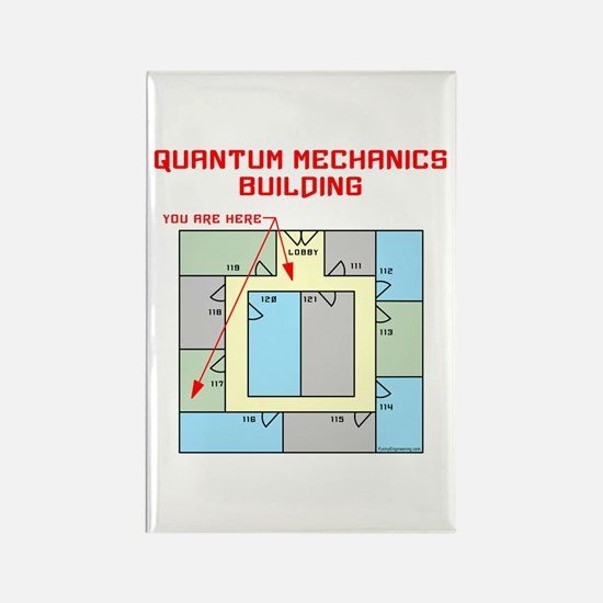 Quantum Mechanics Building Rectangle Magnet