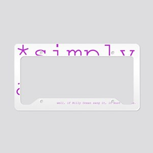 *simply awesome (fuschia) License Plate Holder