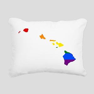 Gay Pride Flag Hawaii Rectangular Canvas Pillow