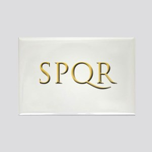 Gold Latin SPQR Magnets