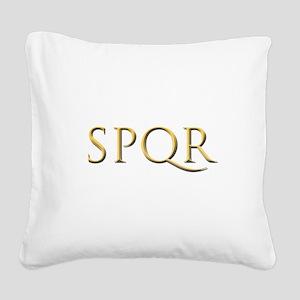 Gold Latin SPQR Square Canvas Pillow