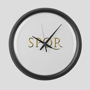 Gold Latin SPQR Large Wall Clock