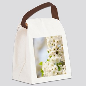 Cherry blossom (Prunus sp.) Canvas Lunch Bag