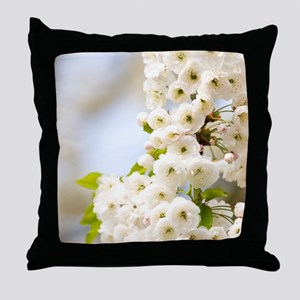 Cherry blossom (Prunus sp.) Throw Pillow