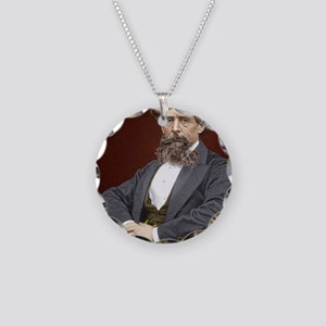 Charles Dickens, British aut Necklace Circle Charm