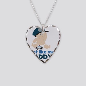 Baby Cop Just like My Daddy P Necklace Heart Charm