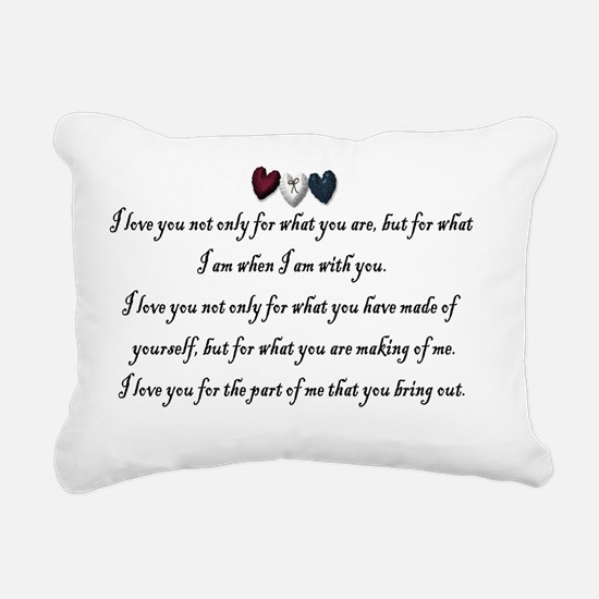 Valentine Greeting Rectangular Canvas Pillow