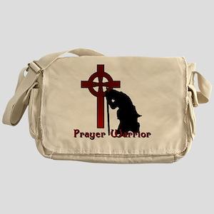 Prayer Knight Red Messenger Bag