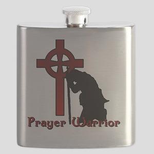 Prayer Knight Red Flask