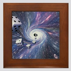 Chance in the universe Framed Tile