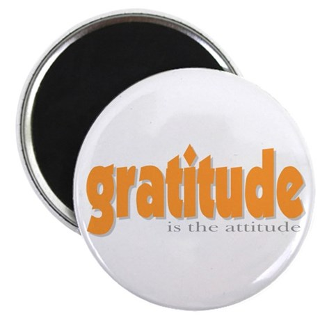 "Gratitude is the Attitude 2.25"" Magnet (10 pack)"