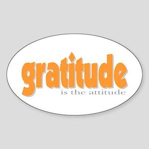 Gratitude is the Attitude Oval Sticker