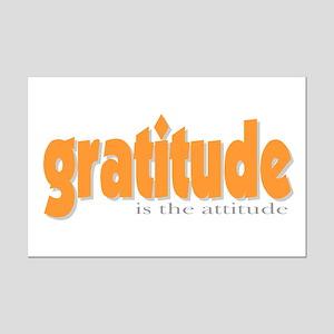 Gratitude is the Attitude Mini Poster Print
