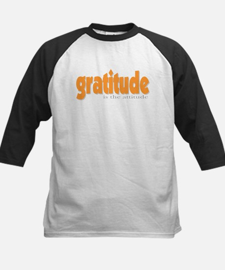 Gratitude is the Attitude Kids Baseball Jersey