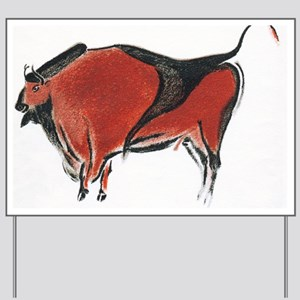 Cave painting of a bison, artwork Yard Sign