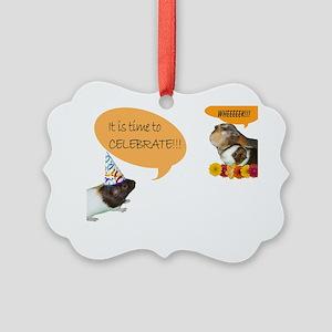 Piggy Celebration Picture Ornament