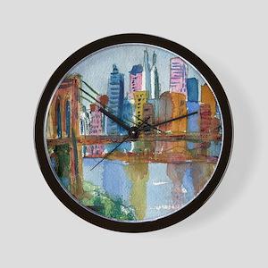 Brooklyn Bridge Bathroom Wall Clock