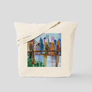 Brooklyn Bridge Bathroom Tote Bag
