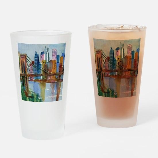 Brooklyn Bridge Bathroom Drinking Glass
