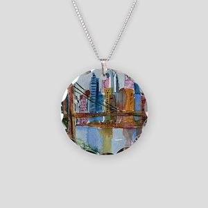 Brooklyn Bridge Bathroom Necklace Circle Charm