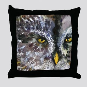 Owl Eyes Bathroom Throw Pillow