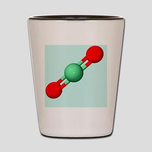 Carbon dioxide molecule Shot Glass