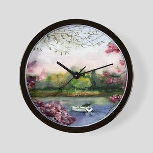 Mamaroneck in April Bathroom Wall Clock