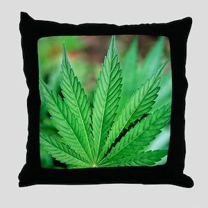 Cannabis leaves Throw Pillow
