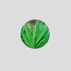 Cannabis leaves Mini Button