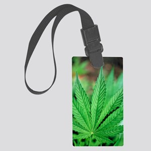 Cannabis leaves Large Luggage Tag