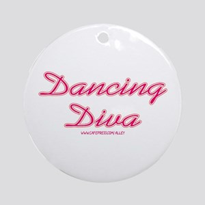 Dancing Diva (pink) Ornament (Round)
