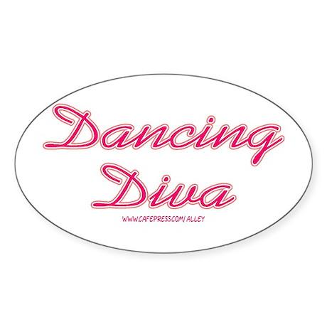 Dancing Diva (pink) Oval Sticker