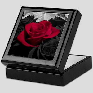 Red rose pop color Keepsake Box