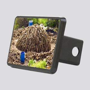 Charcoal production site Rectangular Hitch Cover