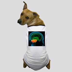 Cerebellum in the brain, artwork Dog T-Shirt