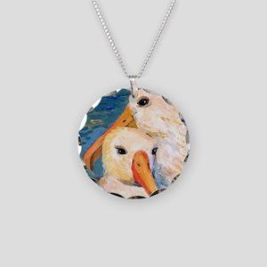 Seagulls Bathroom Necklace Circle Charm