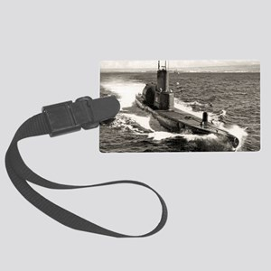 uss tunny ssg large framed print Large Luggage Tag