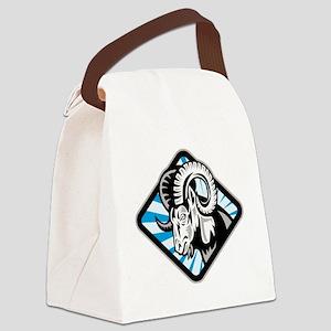 Bighorn Ram Sheep Goat Canvas Lunch Bag