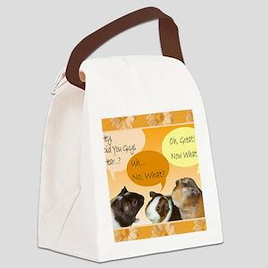 Piggy Greeting Card Canvas Lunch Bag