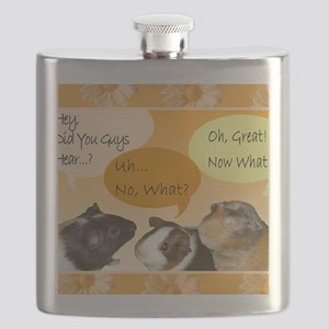Piggy Greeting Card Flask