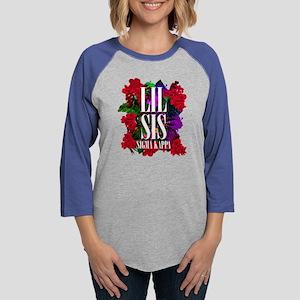 Sigma Kappa Lil Sis Floral Womens Baseball Tee
