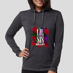 Sigma Kappa Lil Sis Floral Womens Hooded Shirt