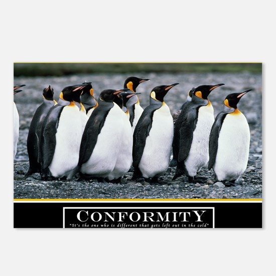 Large Conformity Poster H Postcards (Package of 8)