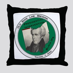 Presidential Intervention Black IPA Throw Pillow