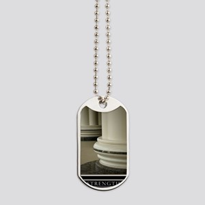 Large Strength Motivational Poster HIMYM Dog Tags