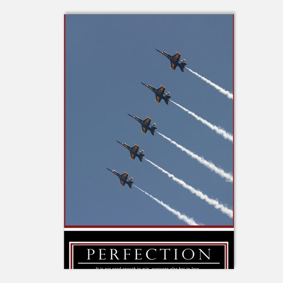 Large Perfection Motivati Postcards (Package of 8)