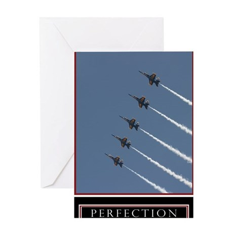 Large Perfection Motivational Poster Greeting Card