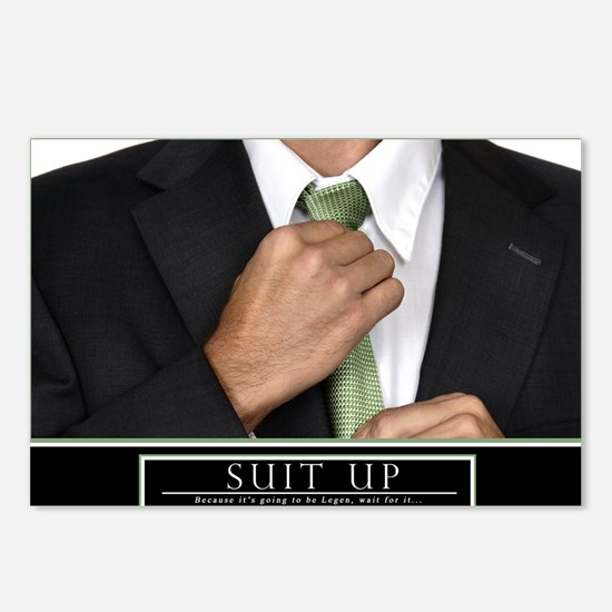 Large Horizontal Suit Up  Postcards (Package of 8)