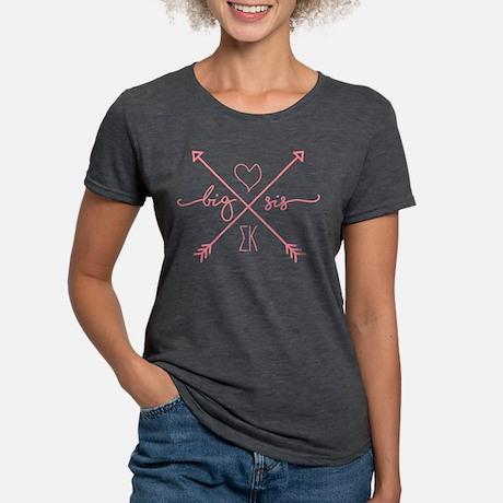 Sigma Kappa Big Arrows Tri-Blend T-shirt